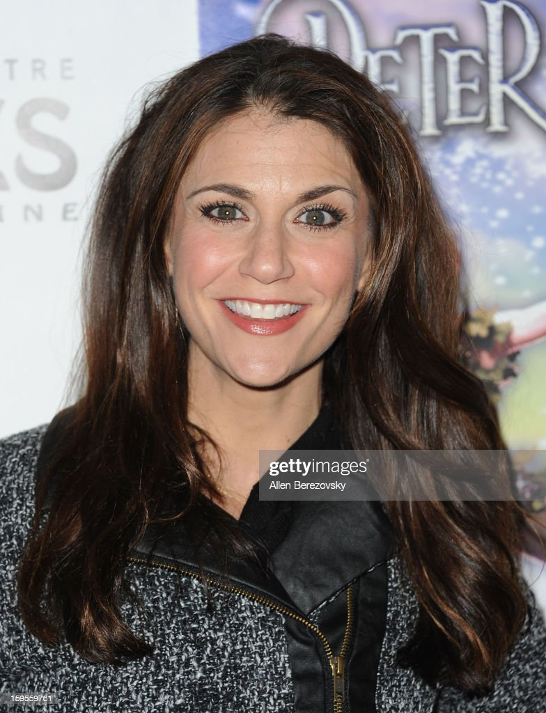 TV personality Samantha Harris arrives at the Los Angeles opening night performance of 'Peter Pan' at the Pantages Theatre on January 15, 2013 in Hollywood, California.