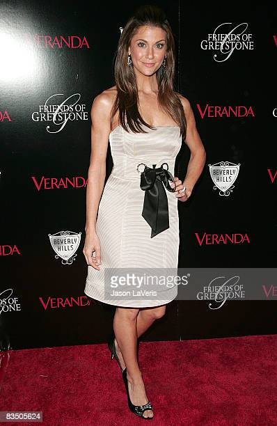 TV personality Samantha Harris attends The Great House grand opening at the Greystone Estate on October 30 2008 in Beverly Hills California