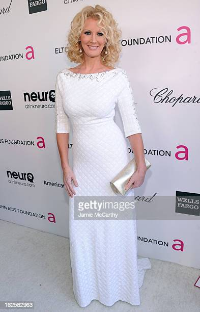 TV personality Sandra Lee attends the 21st Annual Elton John AIDS Foundation Academy Awards Viewing Party at West Hollywood Park on February 24 2013...