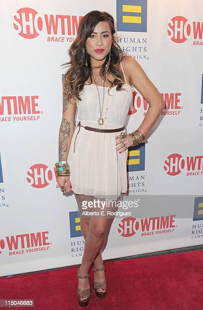 TV personality Sara Bettencourtarrives to the premiere of Showtime's 'The Real L Word' on June 1 2011 in West Hollywood California