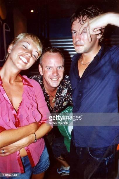 BBC personality Sara Cox Fatboy Slim and John Carter