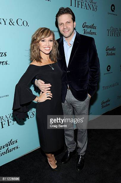 Personality Sara Gore and director Matthew Miele attend the Crazy About Tiffany's NY Premiere at The Museum Of Natural History on February 18 2016 in...