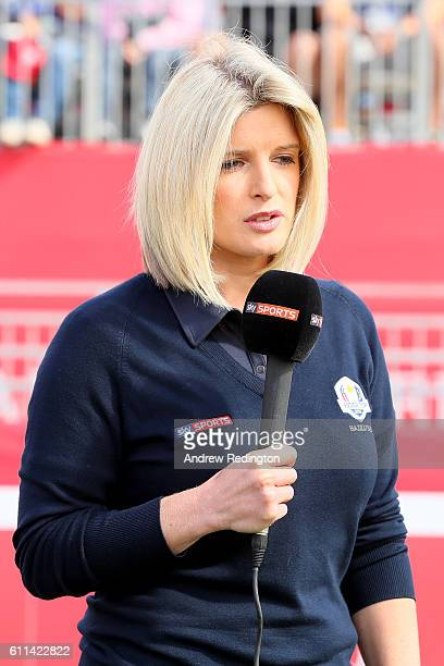 Personality Sarah Stirk during the 2016 Ryder Cup Captains Matches at Hazeltine National Golf Club on September 29, 2016 in Chaska, Minnesota.