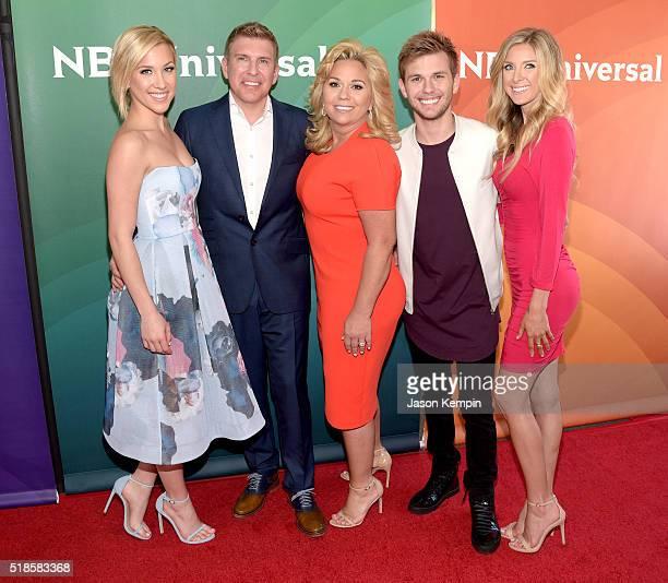 TV personality Savannah Chrisley producer/TV personality Todd Chrisley and TV personalities Julie Chrisley Chase Chrisley and Lindsie Chrisley attend...