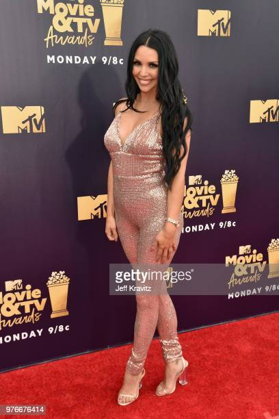 TV personality Scheana Marie attends the 2018 MTV Movie And TV Awards at Barker Hangar on June 16 2018 in Santa Monica California