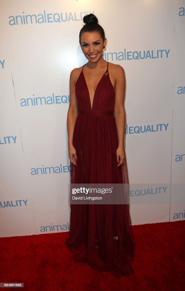 TV personality Scheana Marie attends the Animal Equality Global Action annual gala at The Beverly Hilton Hotel on December 2, 2017 in Beverly Hills, California.