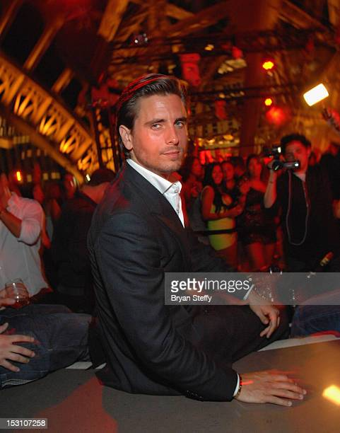 Personality Scott Disick appears at the Chateau Nightclub and Gardens at the Paris Las Vegas on September 29 2012 in Las Vegas Nevada