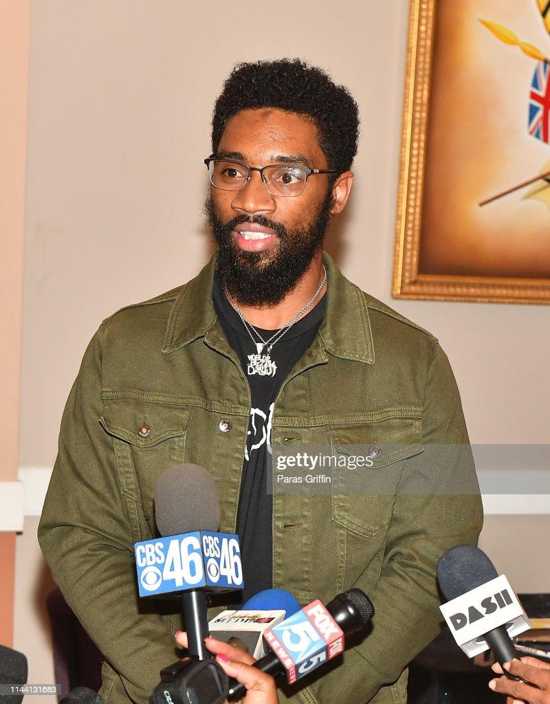 "GA: Dr. Jamal H. Bryant, T.I. And Scrapp Deleon ""Bail Out"" Program Press Conference"