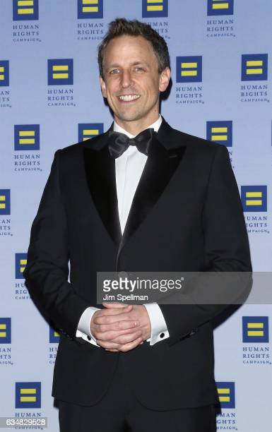 TV personality Seth Meyers attends the 2017 Human Rights Campaign Greater New York Gala at The Waldorf Astoria on February 11 2017 in New York City