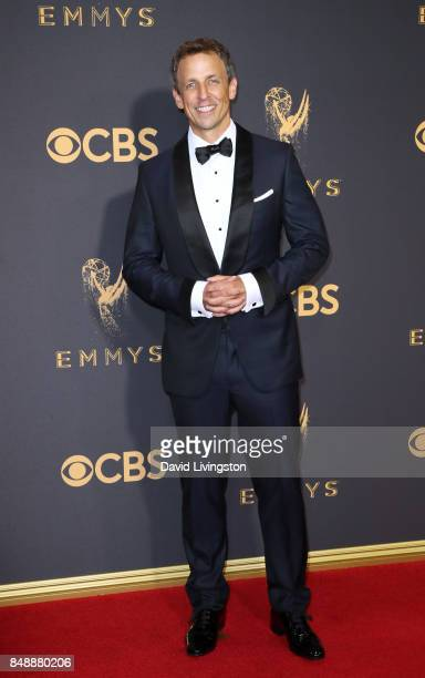 TV personality Seth Meyers attends the 69th Annual Primetime Emmy Awards Arrivals at Microsoft Theater on September 17 2017 in Los Angeles California