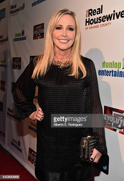 TV personality Shannon Beador attends the premiere party for Bravo's 'The Real Housewives of Orange County' 10 year celebration at Boulevard3 on June...