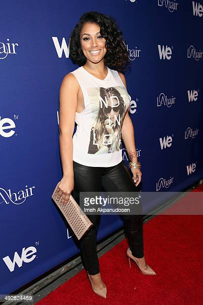 TV personality Shantel Jackson attends WE tv's LA Hair Season 3 Premiere Event on May 21 2014 in Santa Monica California
