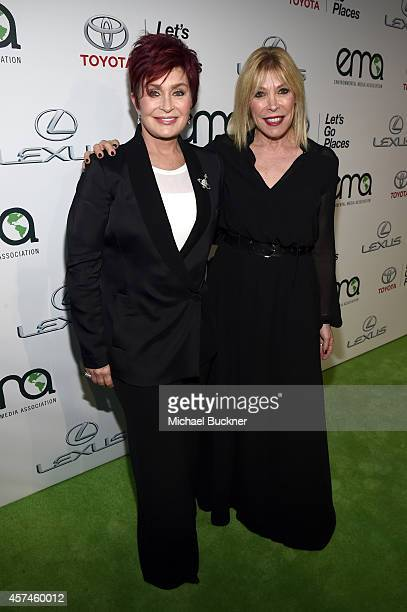 TV personality Sharon Osbourne and EMA President Debbie Levin attend the 24th Annual Environmental Media Awards presented by Toyota and Lexus at...