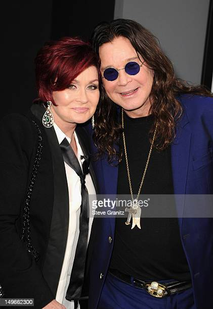 TV personality Sharon Osbourne and Musician Ozzy Osbourne arrive at Los Angeles Premiere of 'Total Recall' at Grauman's Chinese Theatre on August 1...