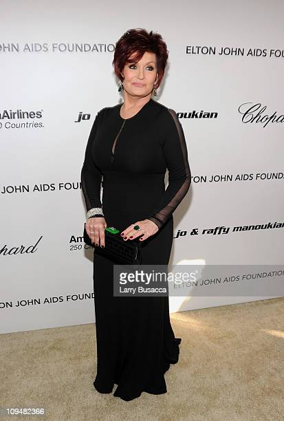 Personality Sharon Osbourne arrives at the 19th Annual Elton John AIDS Foundation Academy Awards Viewing Party at the Pacific Design Center on...