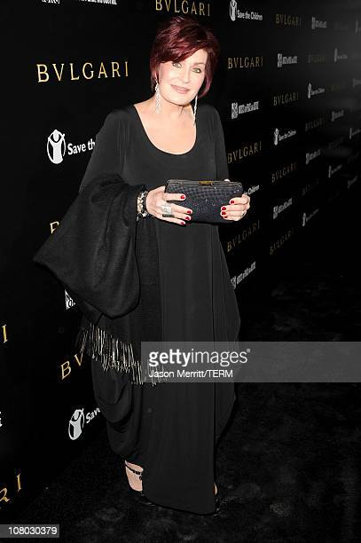 TV personality Sharon Osbourne arrives at the Bvlgari private event honoring Simon Fuller and Paul Haggis to benefit Save The Children and Artists...