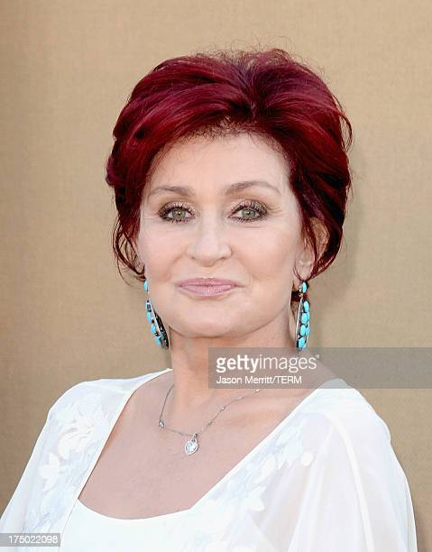 TV personality Sharon Osbourne arrives at the CW CBS and Showtime 2013 summer TCA party on July 29 2013 in Los Angeles California