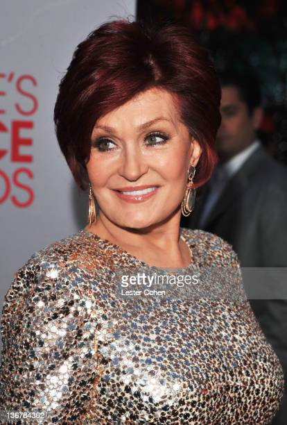 Personality Sharon Osbourne arrives at the People's Choice Awards 2012 at Nokia Theatre LA Live on January 11 2012 in Los Angeles California
