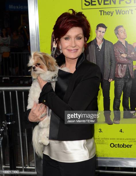 TV personality Sharon Osbourne arrives at the premiere of CBS Films' 'Seven Psychopaths' at Mann Bruin Theatre on October 1 2012 in Westwood...