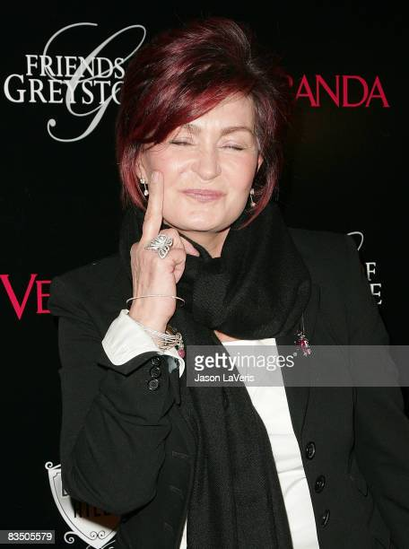 TV personality Sharon Osbourne attends The Great House grand opening at the Greystone Estate on October 30 2008 in Beverly Hills California
