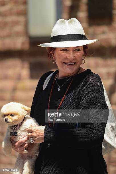 TV personality Sharon Osbourne leaves her Tribeca hotel on August 6 2013 in New York City