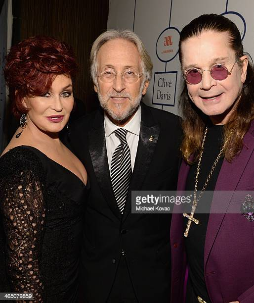 TV personality Sharon Osbourne Recording Academy President/CEO Neil Portnow and singer Ozzy Osbourne attend the 56th annual GRAMMY Awards PreGRAMMY...