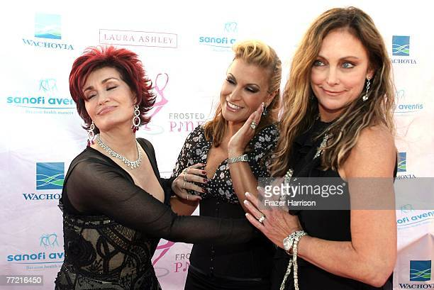 TV personality Sharon Osbourne singer Anastacia and US Olympic Figure Skating gold medalist Peggy Flemming arrive at the Frosted Pink Presented By...