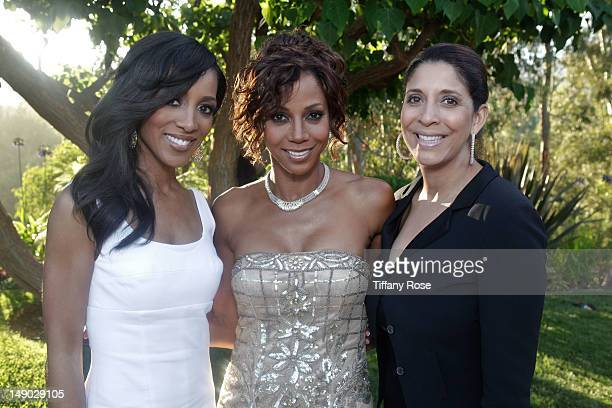 TV personality Shaun Robinson actress Holly Robinson Peete and TV personality Christine Devine attend the HollyRod Foundation's 14th Annual Design...