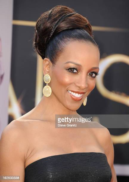 TV personality Shaun Robinson arrives at the Oscars at Hollywood Highland Center on February 24 2013 in Hollywood California