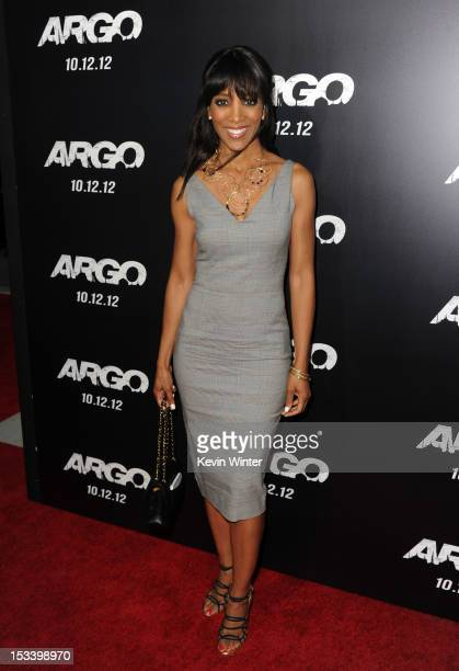 TV personality Shaun Robinson arrives at the premiere of Warner Bros Pictures' Argo at AMPAS Samuel Goldwyn Theater on October 4 2012 in Beverly...