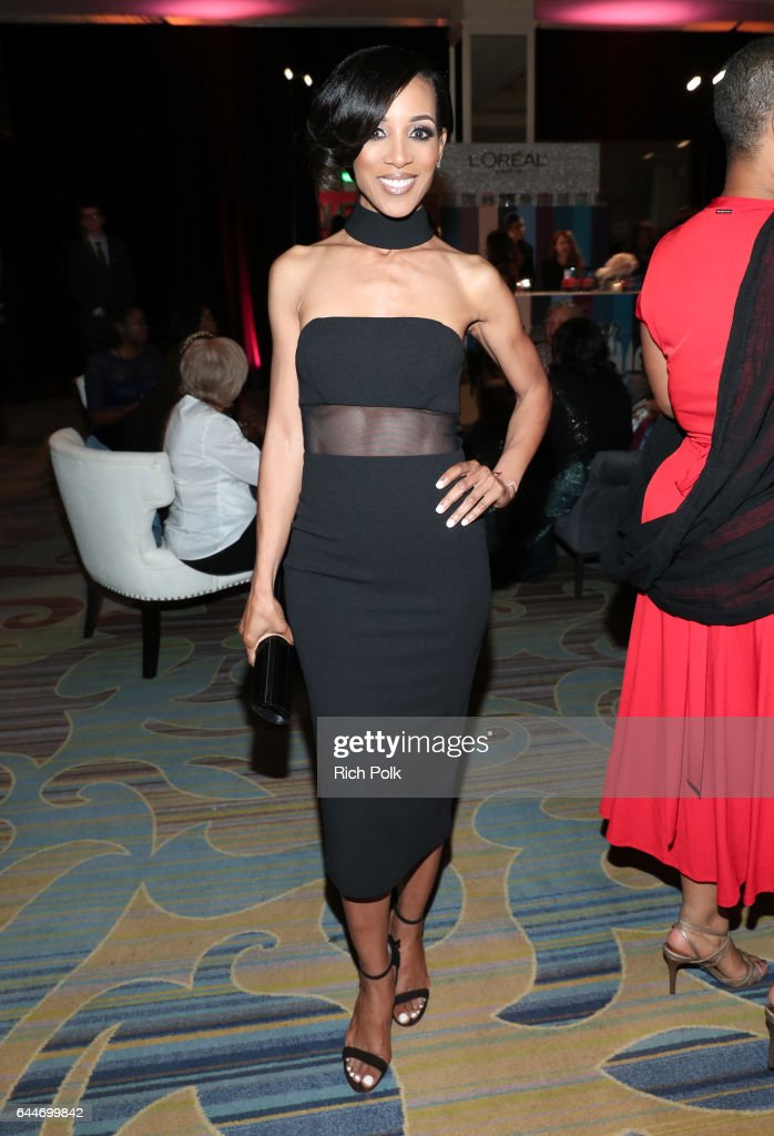 TV personality Shaun Robinson at Essence Black Women in Hollywood Awards at the Beverly Wilshire Four Seasons Hotel on February 23, 2017 in Beverly Hills, California.