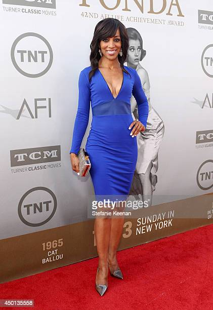 TV personality Shaun Robinson attends the 2014 AFI Life Achievement Award A Tribute to Jane Fonda at the Dolby Theatre on June 5 2014 in Hollywood...
