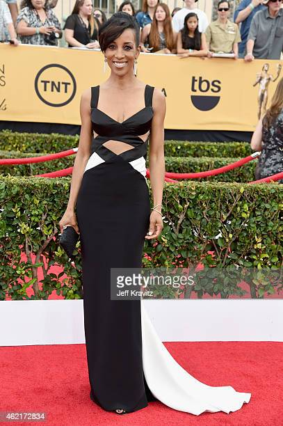TV personality Shaun Robinson attends the 21st Annual Screen Actors Guild Awards at The Shrine Auditorium on January 25 2015 in Los Angeles California