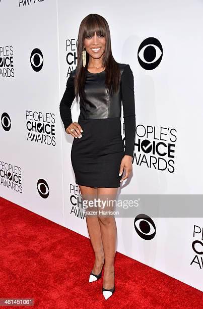 TV personality Shaun Robinson attends The 40th Annual People's Choice Awards at Nokia Theatre LA Live on January 8 2014 in Los Angeles California
