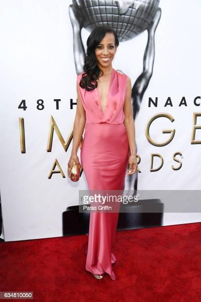 TV personality Shaun Robinson attends the 48th NAACP Image Awards at Pasadena Civic Auditorium on February 11 2017 in Pasadena California