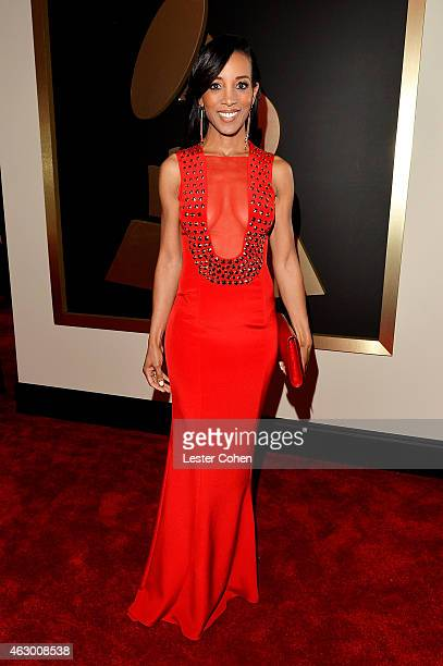 TV personality Shaun Robinson attends The 57th Annual GRAMMY Awards at the STAPLES Center on February 8 2015 in Los Angeles California