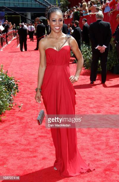TV personality Shaun Robinson attends the 62nd Annual Primetime Emmy Awards at Nokia Theatre Live LA on August 29 2010 in Los Angeles California