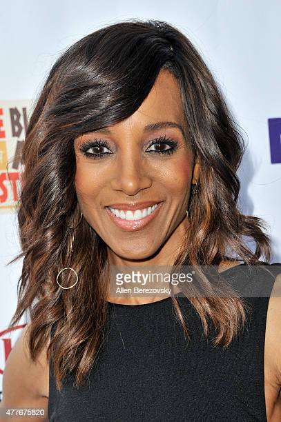 TV personality Shaun Robinson attends the Black AIDS Institute 2015 Heroes in the Struggle Reception Gala and Awards Ceremony at Directors Guild Of...