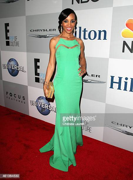 Personality Shaun Robinson attends the NBCUniversal 2015 Golden Globe Awards Party sponsored by Chrysler at The Beverly Hilton Hotel on January 11...