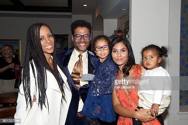 Personality Shaun Robinson, Singer/Songwriter Eric Benet, daughter Lucia Bella, humanitarian/wife Manuela Testolini and daughter Amoura Luna attend...