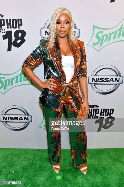 TV personality Shay Johnson arrives at the BET Hip Hop Awards 2018 at Fillmore Miami Beach on October 6 2018 in Miami Beach Florida