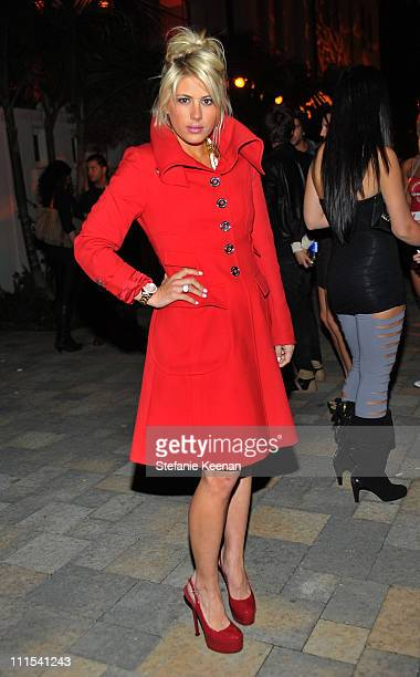 """Personality Shayne Lamas attends the grand opening of """"Pandora"""" at Vibiana on October 27, 2009 in Los Angeles, California."""