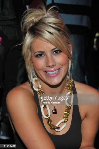 TV personality Shayne Lamas attends the grand opening of Pandora at Vibiana on October 27 2009 in Los Angeles California