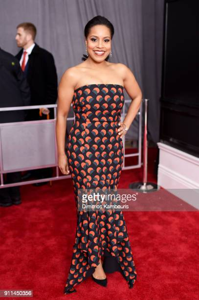 TV personality Sheinelle Jones attends the 60th Annual GRAMMY Awards at Madison Square Garden on January 28 2018 in New York City