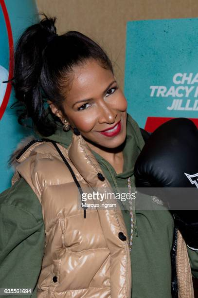 TV personality Sheree Whitfield attends FIST FIGHT VIP screening with a special apperance by star Ice Cube at Regal Atlantic Station on February 15...