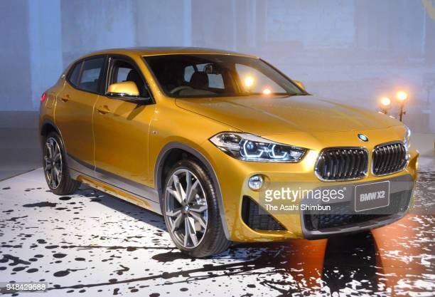 TV personality Shingo Katori attends the BMW's new sport utility vehicle 'X2' unveiling on April 16 2000 in Tokyo Japan