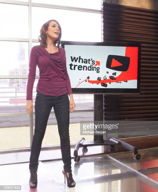 """Personality Shira Lazar attends """"What's Trending"""" on October 11, 2012 in Hollywood, California."""