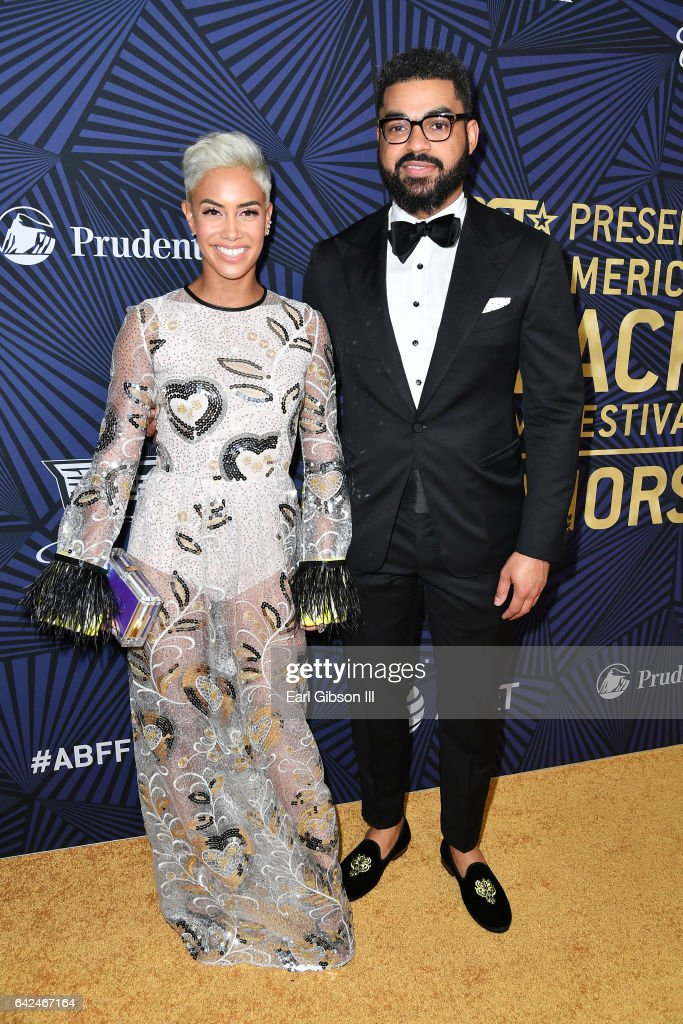 TV personality Sibley Scoles (L) and Communications Manager at General Motors Eneuri Acosta attend BET Presents the American Black Film Festival Honors on February 17, 2017 in Beverly Hills, California.