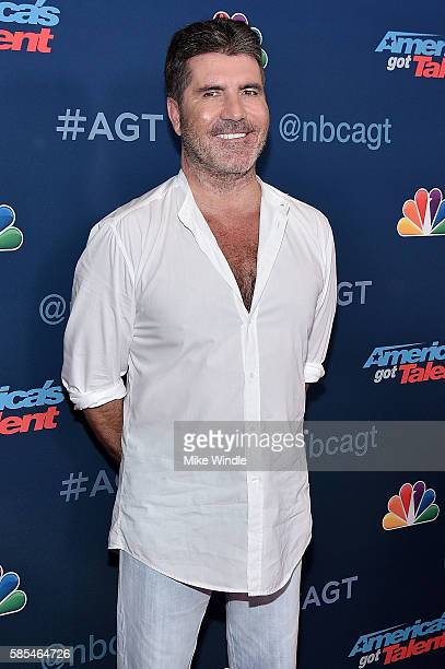 "Personality Simon Cowell attends NBC's ""America's Got Talent"" Season 11 Live Show at Dolby Theatre on August 2, 2016 in Hollywood, California."