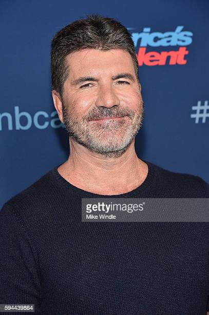Personality Simon Cowell attends the 'America's Got Talent' Season 11 Live Show at Dolby Theatre on August 23 2016 in Hollywood California